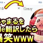 (あつ森)おい!今すぐ「ちゃちゃまる」をGoogle翻訳して!とんでもない翻訳されてるぞwww(あつまれどうぶつの森)