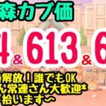 【あつ森カブ】カブ価614&613&604ベル 往復OK複数あり!初見歓迎☆あつ森参加型ライブ配信!