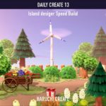 【あつ森】案内所横の散歩道の作業動画:DAILY CREATE13【島クリエイト|Speed Build】