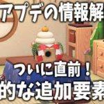 【あつ森】ついに直前!数日後に解禁予定「1月アプデ」の情報と追加要素を確認しよう!【あつまれどうぶつの森/Animal Crossing/アップデート/冬アプデ/カーニバル】