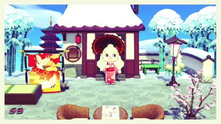 【あつ森】冬に作った和風ゾーン(和風エリア)をご紹介します☆(初のがっつり島クリエイト♪)