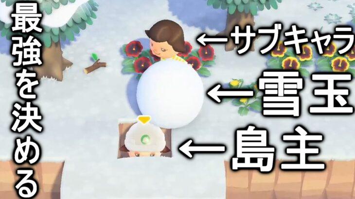 【あつ森サブ】島主と雪玉はどっちの方が強い?【あつまれどうぶつの森】